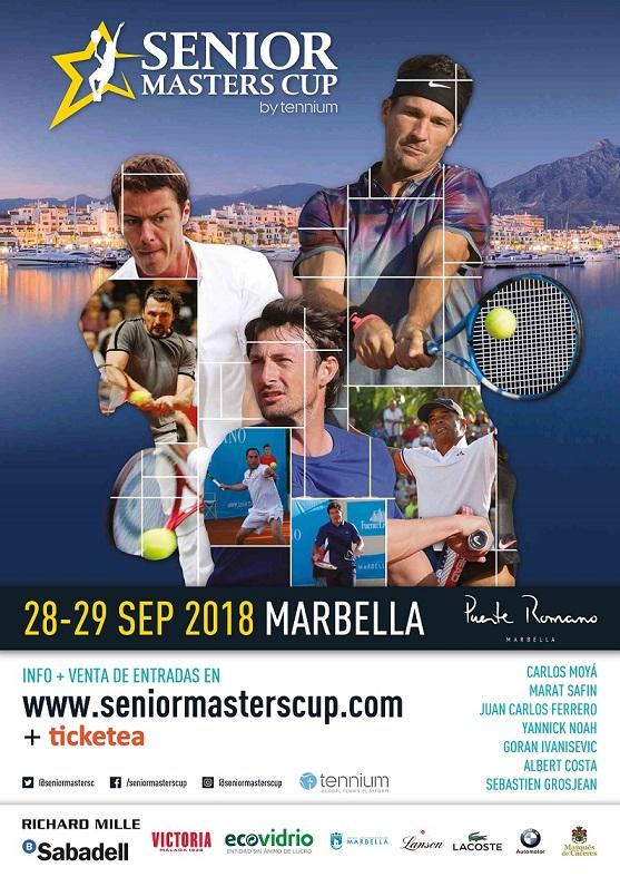 Senior Masters Cup 2018 Cartel Tenis Malaga